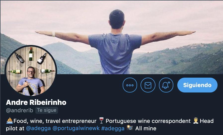 andre perfil de twitter