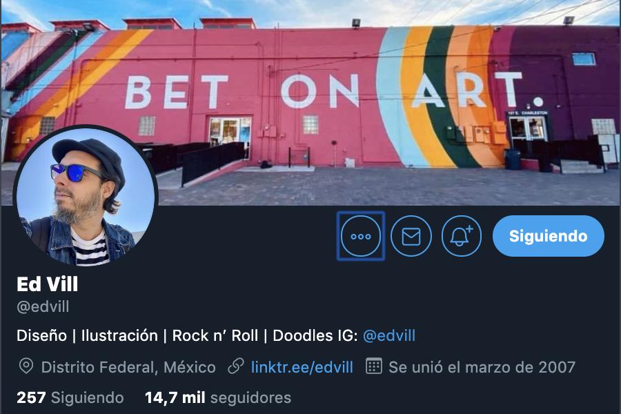 ed perfil de twitter